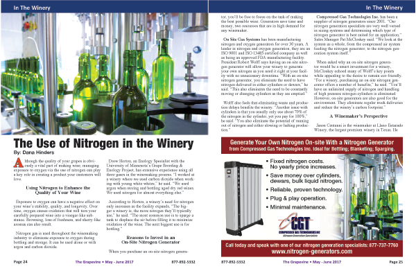 Grapevine Magazine Article 2017